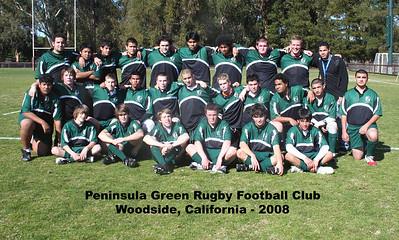 Peninsula Green High School Rugby Club - 2008