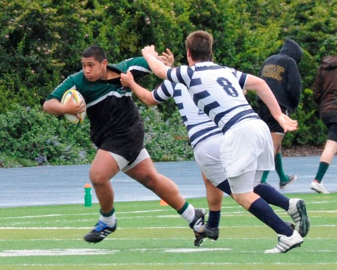2011 - Pen Green vs Bellarmine -  Andrew (Maka) Tameilau running in traffic.