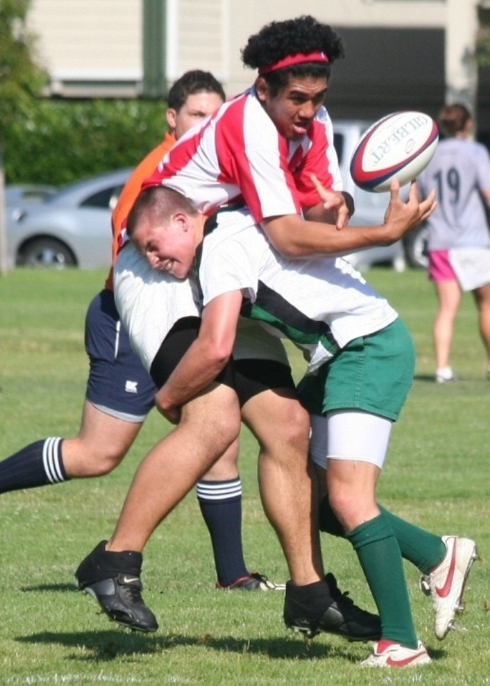 2007 - Pen Green vs EPA (Summer Seven a side)  - Travis Benson demonstating perfect tackling form as he lifts the EPA player prior to driving him back - also jarring the ball loose  (08-06-07)