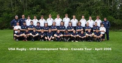 USA Rugby U19 Development Team - Canada Tour - April 2006