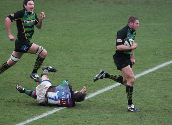 Northampton Saints vs NEC Harlequins, Guinness Premiership, Franklin's Gardens, February 17, 2007