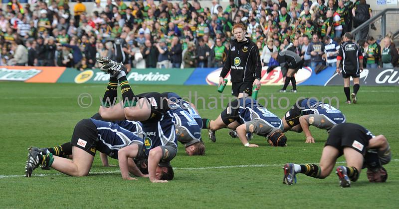 Northampton Saints vs London Irish, Guinness Premiership, Franklin's Gardens, 18 April 2009