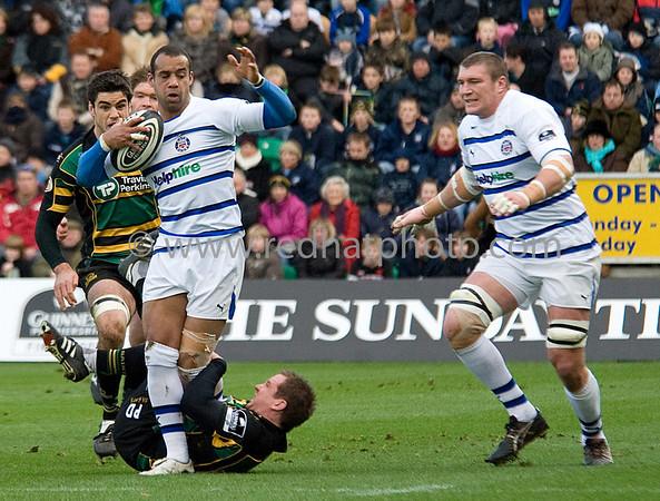Northampton Saints vs Bath, Guinness Premiership, Franklin's Gardens, 22 November 2008