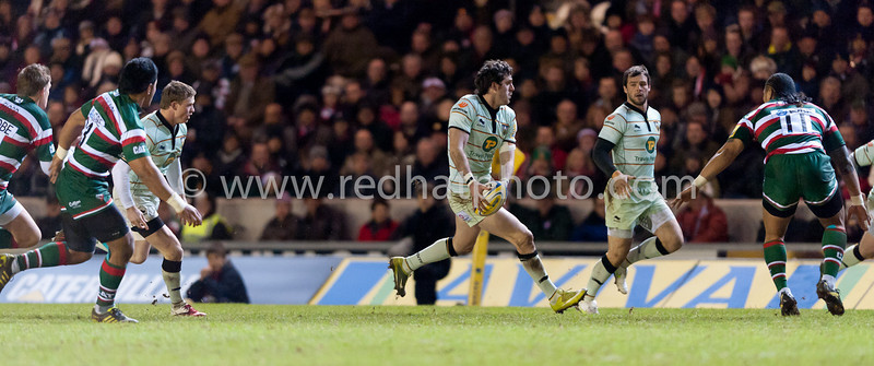 Leicester Tigers vs Northampton Saints, Aviva Premiership, Welford Road, 8 January 2011