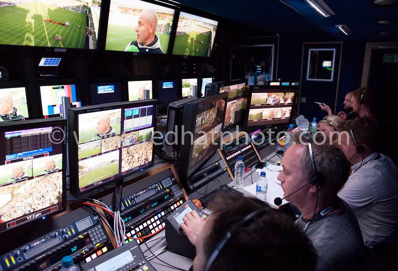 Inside the BT Sport production truck