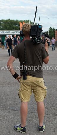 A BT Sport cameraman waits...