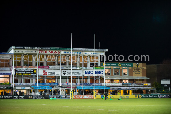 Northampton Saints vs Harlequins, Aviva Premiership, Franklin's Gardens, 3 January 2014