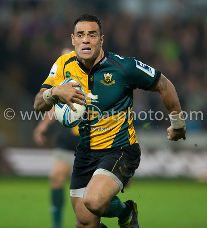 Northampton Saints vs Harlequins, Amlin Challenge Cup semi final, Franklin's Gardens, 25 April 2014