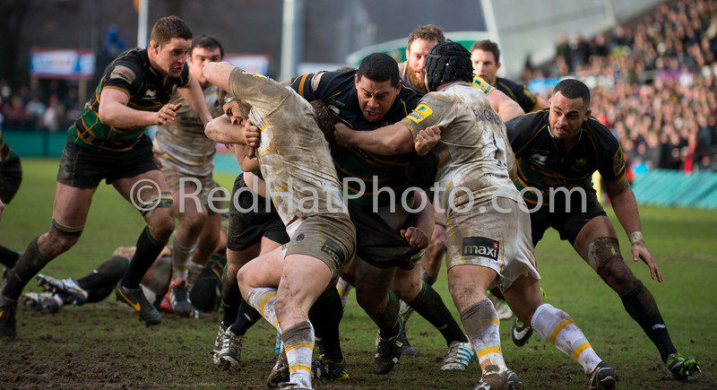 NorthamptonSaints vs Worcester Warriors, Aviva Premiership, Franklin's Gardens, 15 February 2014
