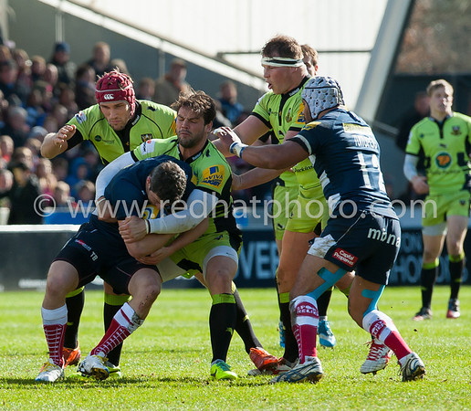 Sale Sharks vs Northampton Saints, Aviva Premiership, AJ Bell Stadium, 22 March 2014