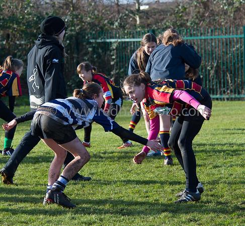 Girls' training, Franklin's Gardens, 24 January 2015