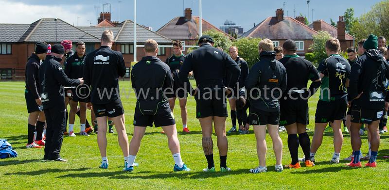 Northampton Saints training, Franklin's Gardens, 19 May 2015