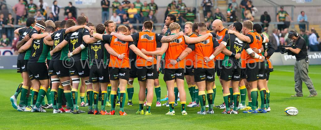 Northampton Saints vs Gloucester Rugby, Aviva Premiership, Franklin's Gardens, 5 September 2014