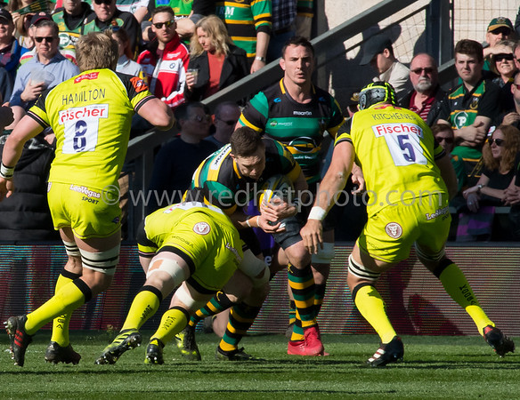 Northampton Saints vs Leicester Tigers, Aviva Premiership, Franklin's Gardens, 25 March 2017
