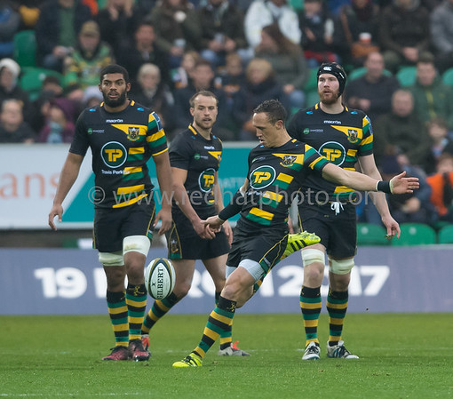 Northampton Saints vs Gloucester Rugby, Anglo-Welsh Cup, Franklin's Gardens, 12 November 2016