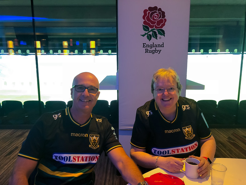 Saints Community Ambassadors - Jez Stafford and Claire Jones