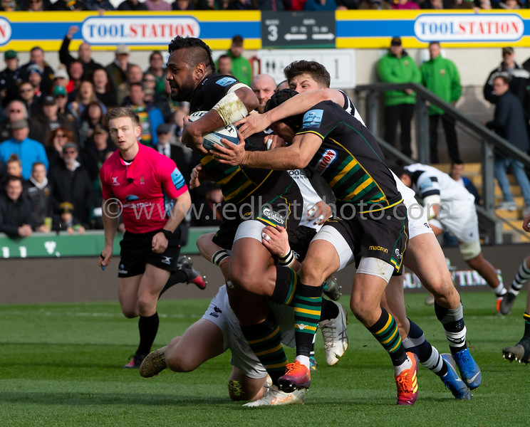 Northampton Saints vs Bristol Bears, Gallagher Premiership, Franklin's Gardens, 9 March 2019
