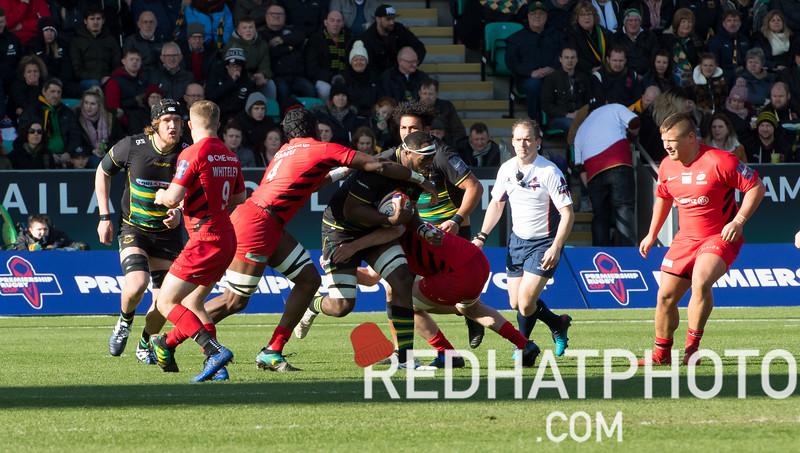 Northampton Saints vs Saracens, Premiership Rugby Cup final, Franklin's Gardens, 17 March 2019
