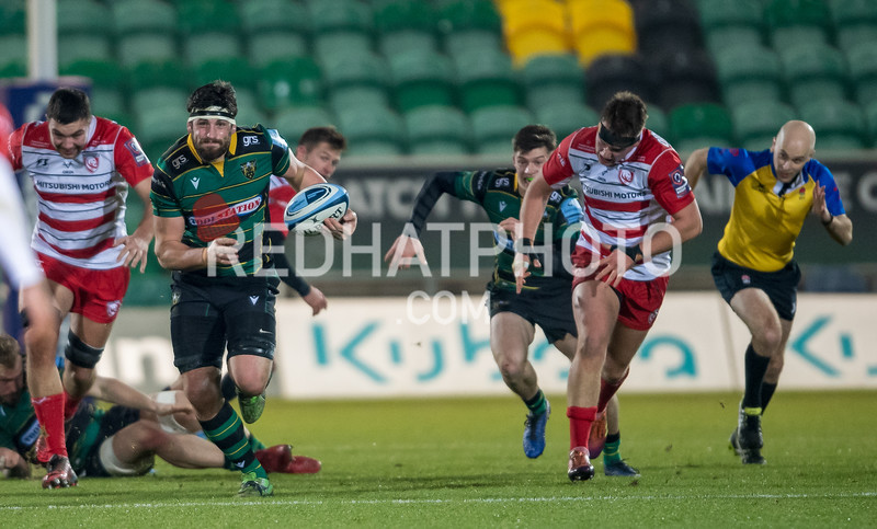 Northampton Wanderers vs Gloucester Rugby, Premiership Rugby Shield, Franklin's Gardens, 16 December 2019