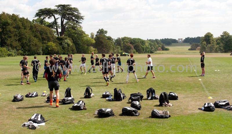 Saints training at Stowe School, 9 August 2011