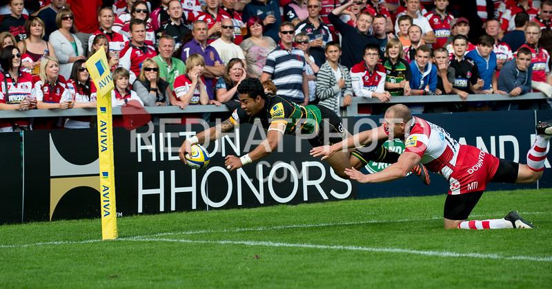 Gloucester Rugby vs Northampton Saints, Aviva Premiership, Kingsholm, 1 September 2012