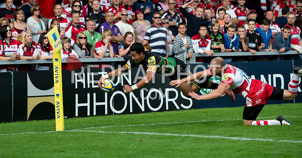 Gloucester Rugby vs Northampton Saints, Aviva Premiership, Kingsholm, 1 September 2012