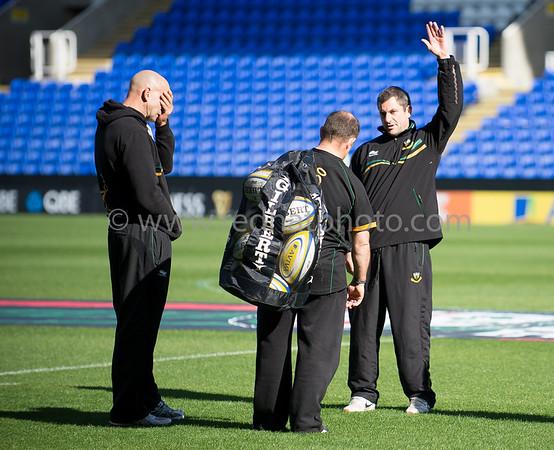 London Irish vs Northampton Saints, Aviva Premiership, Madjeski Stadium, 6 October 2012