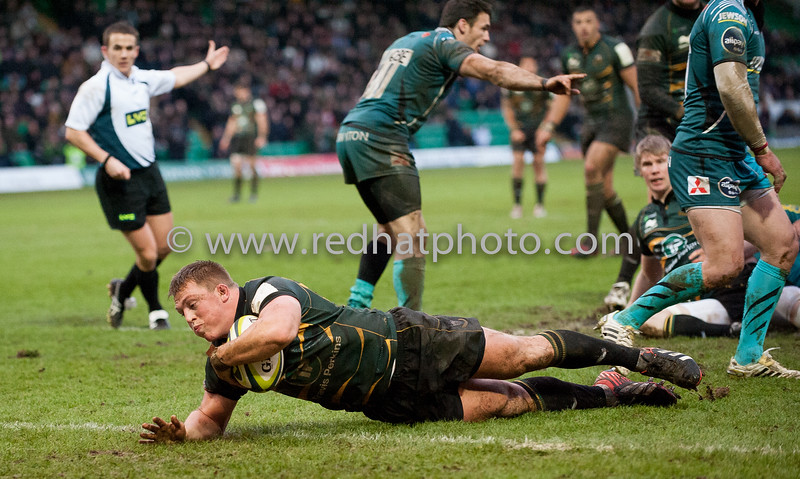 Northampton Saints vs Gloucester Rugby, LV= Cup, Franklin's Gardens, 26 January 2013