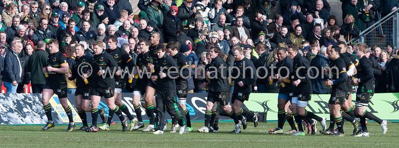 Northampton Saints vs Leicester Tigers, Aviva Premiership, Franklin's Gardens, 30 March 2013