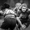 Women's Regional Rugby, Dragons Ladies U18's v Cardiff Blues Ladies U18's on Sunday October 15 2017 at CCB Centre of Sporting Excellence, Ystrad Mynach, South Wales. Photographer : Simon Latham