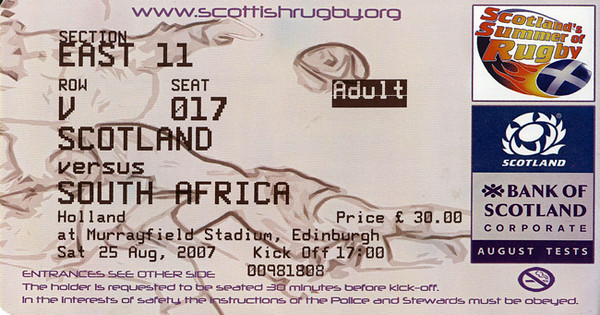 2007-August Tests:Scotland v South Africa