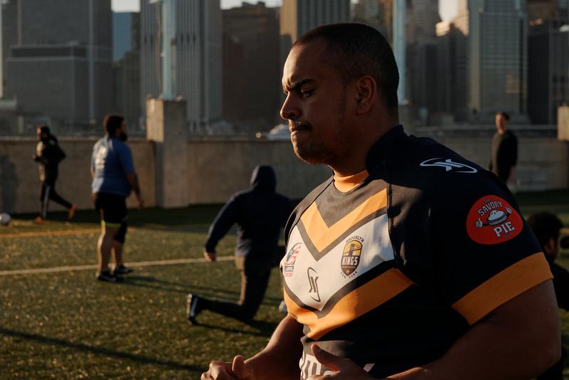 Brooklyn Kings Rugby League April 2015 Training. Photo: Davey Wilson - www.daveywilson.com
