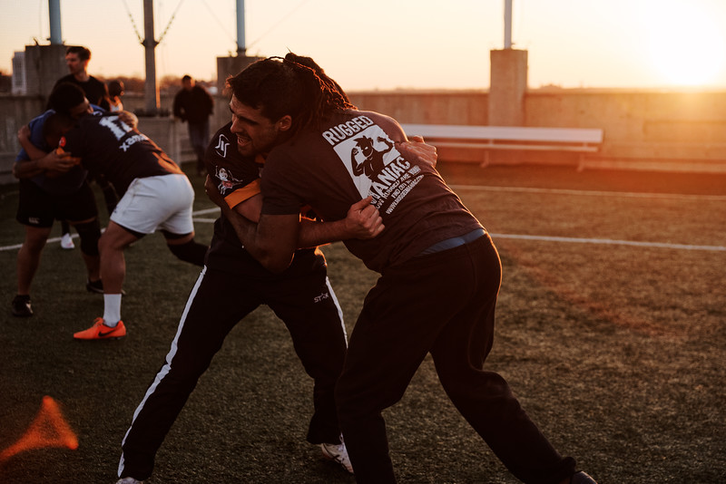 Brooklyn Kings Rugby League Spring 2015 Training. Photo: Davey Wilson - www.davyewilson.com