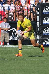February 13-15, 2015; Las Vegas, Nevada, United States; USA Sevens Rugby- HSBC Seven's World Series, Australia Rugby, Photo: Travis Prior
