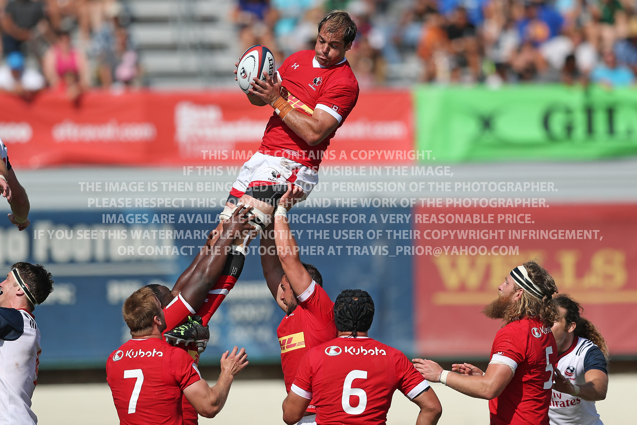 July 1, 2017 Rugby Canada Men vs USA Eagles 2018 World Cup Qualifier San Diego, California