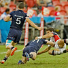 USA vs. Scotland in the Bowl final at the HSBC Singapore Sevens at National Stadium in Singapore on April 17, 2016.  Scotland beat USA 14-10.