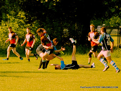 Extremely sunny rugby Stirling Univ.Scotl. vs Juvenia Cracow june 2014