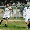 Health Services vs Mira Mesa 2-2-2013 : Health Services in green and white, Mira Mesa in blue and yellow.