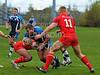 28.10.2012. Meggetland, Edinburgh. Rugby League, Scotland v England Knights in the Alitalia Rugby League European Cup. Scotland attack