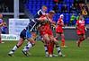 otland's Ben Fisher secures a loose ball28.10.2012. Meggetland, Edinburgh. Rugby League, Scotland v England Knights in the Alitalia Rugby League European Cup. Scotland defend