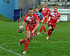 28.10.2012. Meggetland, Edinburgh. Rugby League, Scotland v England Knights in the Alitalia Rugby League European Cup. England attack down the wing