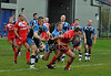 28.10.2012. Meggetland, Edinburgh. Rugby League, Scotland v England Knights in the Alitalia Rugby League European Cup. Englands Scott Taylor forces his way over the line to score