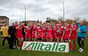28.10.2012. Meggetland, Edinburgh. Rugby League, Scotland v England Knights in the Alitalia Rugby League European Cup. The England players celebrate with the trophy
