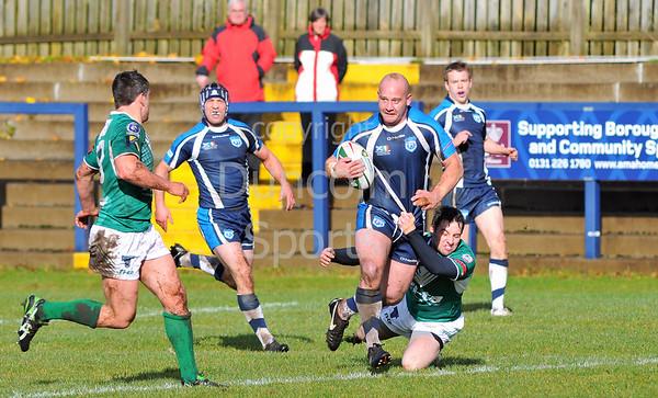 14.10.2012. at Meggetland, Edinburgh. Scotland v Ireland in the Alitalia Rugby League European Cup