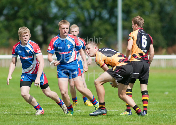 Rugby League - under 17 Scottish Grand Final.<br /> Easterhouse Panthers v Aberdeen Spartans. Match played at Falkirk RFC on 4 August 2012.