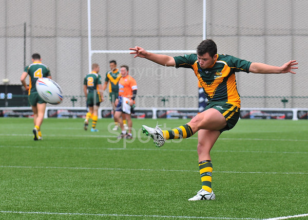 27 June 2014. The Rugby League Commonwealth Championship Tournament at Broadwood Stadium, Cumbernauld. Jamaica v Australia