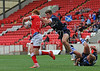 27 June 2014. The Rugby League Commonwealth Championship Tournament at Broadwood Stadium, Cumbernauld. Scotland v Wales