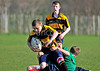 Greenwood Academy and Dunbar Grammar playing in a Respectme Saltire Schools Cup Semi Final at Falkirk RFC on 22 March 2012.