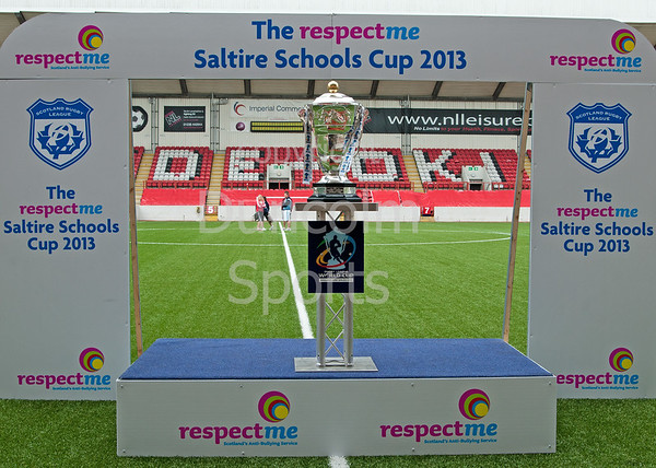 The Saltire Schools Cup Finals 2013. Broadwood Stadium, 20 June 2013. With the RL World Cup