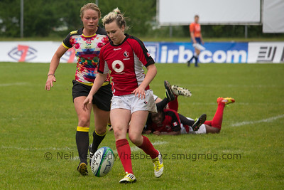 IRB WSWS Amsterdam 7s Day 1 at National Rugby Centre, Amsterdam, Netherlands on 13th May 2013 Game 15: Canada v England